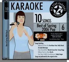 Karaoke CD+G - Best of Spring 2006 Pop, Vol 6 - New 2006 All Star Karaoke CD!