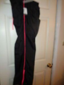Women's Danskin Now Black/Pink Side Trim Loose Active Wear Pants Size L(12-14)