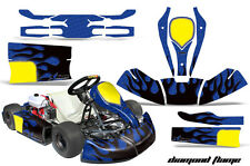 AMR Racing Graphics CRG Bambino Cadet Sticker Kits Decals DIAMOND FLAME BLACK