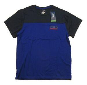 Polo Ralph Lauren Men's Royal/Navy Colorblock Breathable Mesh Crew-Neck T-Shirt