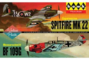 Lindberg HL445 1/72 Spitfire/Me109 - 2 Pack