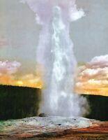 "1898 Old Faithful Geyser Yellowstone, WY Vintage Photograph 8.5"" x 11"" Reprint"