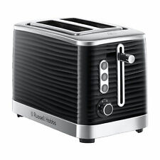 Russell Hobbs 24382 Inspire High Gloss Plastic 2 Slice Toaster-  Black/Chrome