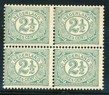 55 P1 POSTFRIS+3 EX.55 IN BLOK v.4,BOVENSTE PAAR PLAKKER,ONDERSTE POSTFRIS Zw271