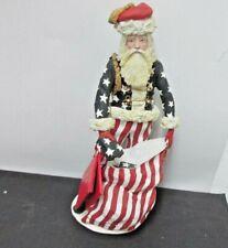 """Duncan Royale 1983 Patriotic American Flag 12"""" Civil War Santa Number 03118"""
