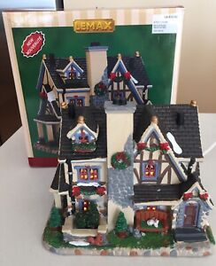 LEMAX CHRISTMAS VILLAGE HOUSE MORRISON MANOR MANSION  75221 With Light, In Box