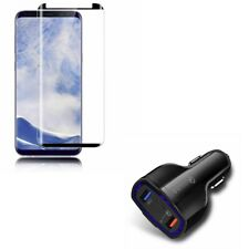 Galaxy S9 - 48W Quick Car Charger w Anti-Glare Screen Protector