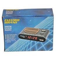 Vintage Electro Brand AM/FM Alarm CLOCK RADIO MODEL 4445 W/ Original Box EUC