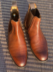 FOSTER & SON / EDWARD GREEN MENS  GRAINED LEATHER  BOOTS SIZE UK 8. MINT COND.