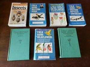 7 Peterson Field Guides, Birds, Shells, Wildflowers
