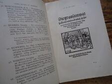 CATALOGUE DE LIVRES ANCIENS RARES ET CURIEUX ALSACE 1927 ESTAMPES BIBLIOPHILIE