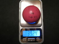 Minigolfball MG Cup 93 KL bespielt unmarkiert Balldaten im Text bitte Text lesen