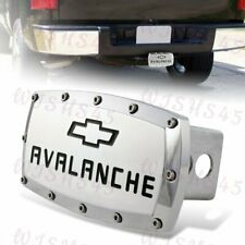 "For 2"" Trailer Tow Receiver Hitch Cover Cap For CHEVROLET AVALANCHE +ALLEN BOLTS"