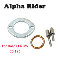 Metal Exhaust Stud and Domed Nut Nuts With Gasket Clamp Fit Honda CG125 CG 125