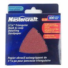 Mastercraft, 3 5/8'' Triangular Hook & Loop Detailing Sandpaper,100 medium,15/P