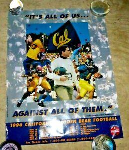 VINTAGE  POSTER UC BERKELEY CAL FOOTBALL GO BEARS STEVE MARIUCCI SCHEDULE 1996