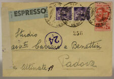 History Postal Rsi 2,50 Lire Brothers Flag + Pair of 50 Cent 1945 #SP359