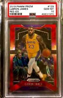Lebron James 2019-20 Panini Prizm Red Ice #129 PSA 10 Lakers