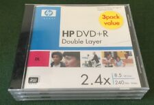 HP 3 Pack DVD+R Double Layer DVD Disk 8.5 GB 240 min Video 2.4X Disc BRAND NEW