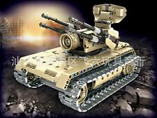 Antiaircraft Track Car Military Building Bricks Model Toy Gift Remote Control