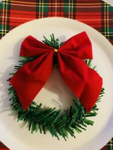 Christmas Table Plate decoration - 4 Plate Wreaths - Reefs