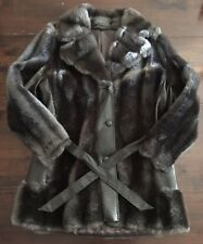 Womens Dark Brown Faux Fur Royal-Minke by Hillmoor coat with satin lining