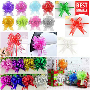 10,20 Pull Bow Ribbon Gift Wrapping Wedding X'mas Party Décor Wrap Large Bows UK
