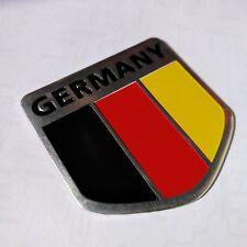Aluminum alloy Emblem Badge Decal Car Fender Side Logo Sticker Germany Flag