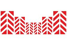 Motorcycle Red Reflective Chevron Safety Decal Kit - Be Safe Be Seen at Night