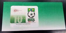 1994 World Cup of Soccer/Futbol BRAZIL unused Phone Card w/envelope
