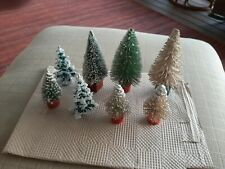 HO scale Vintage winter trees with stands. 8 pieces