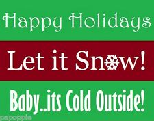 Winter Holiday Stencils Lot of 3 Walls Sayings 5.5 inch by 21 inch each