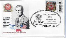 Polonus 2014, complete set (3)  cachets + cancels + Polonus postage (PL2014S)