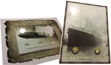 TITANIC & HINDENBURG relics combo.....coal wood fabric duralumin envelope pieces