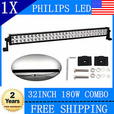 180W 32inch Philips Combo LED Light Bar Driving DRL Offroad SUV Car 4WD Boat UTE