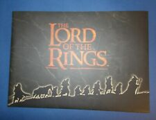 JRR Tolkien. Lord of the Rings Publishers Catalogue. HarperCollins 2001.