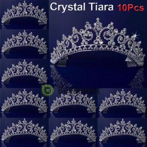 Lot 10 Bridal Wedding Rhinestone Crystal Tiara Hair Band Princess Crown Headband