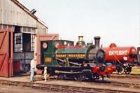 PHOTO  GWR EX CARDIFF RLY. 0-4-0ST NO 1338 2001 AT DIDCOT GWRPS ON SHED