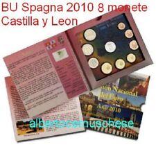 2010 SPAGNA 9 monete euro espagne Spain Castilla y Leon