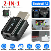 2 in1 USB Bluetooth Audio Transmitter/Receiver Adapter For TV/PC/Car AUX Speaker