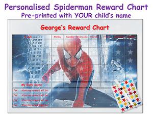 Personalised Good Behaviour Reward Chart Reusable Kids Children SPID
