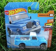 Sky Blue. 1985 Land Rover Series III Pickup.  Short Card. FYF07. New in Package!