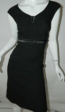 New Stop Staring Dress Black Pinup Rockabilly Pencil Wiggle Dress Sz S