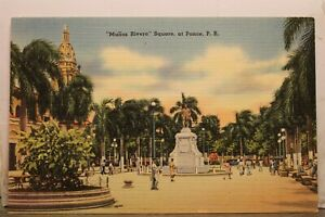 Puerto Rico Ponce Munoz Rivera Square Postcard Old Vintage Card View Standard PC
