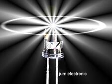 20 Stück Leuchtdioden  /  Led /  5mm /  WEIß 5000mcd /  Abstrahlwinkel 40° / NEU