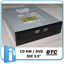 COMBO Lector DVD Grabadora CD RW IDE  PATA Grabador Negro BTC 5232IM oem