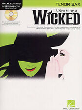 WICKED A new Musical Tenor Saxophone Sax Music Book CD