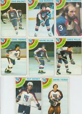 1978-79 Topps Hockey Rangers 8 Card Lot Dave Maloney VG-EX Cond. #11,41,73,85