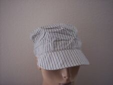 August Accessories Girl Talk Stripe Military Cap Hat