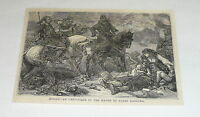 1878 magazine engraving ~ BULGARIAN CHRISTIANS BEING ATTACKED BY BASHI BAZOUKS